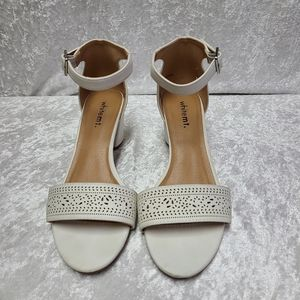 White mt eileen sandals